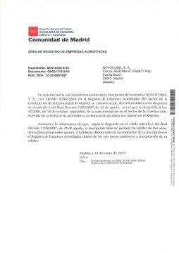 REGISTRO DE EMPRESAS ACREDITADAS DEL SECTOR DE LA CONSTRUCCIÓN (REA)